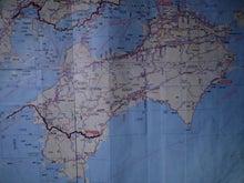 $歩き人ふみの徒歩世界旅行 日本・台湾編-四国ルート図