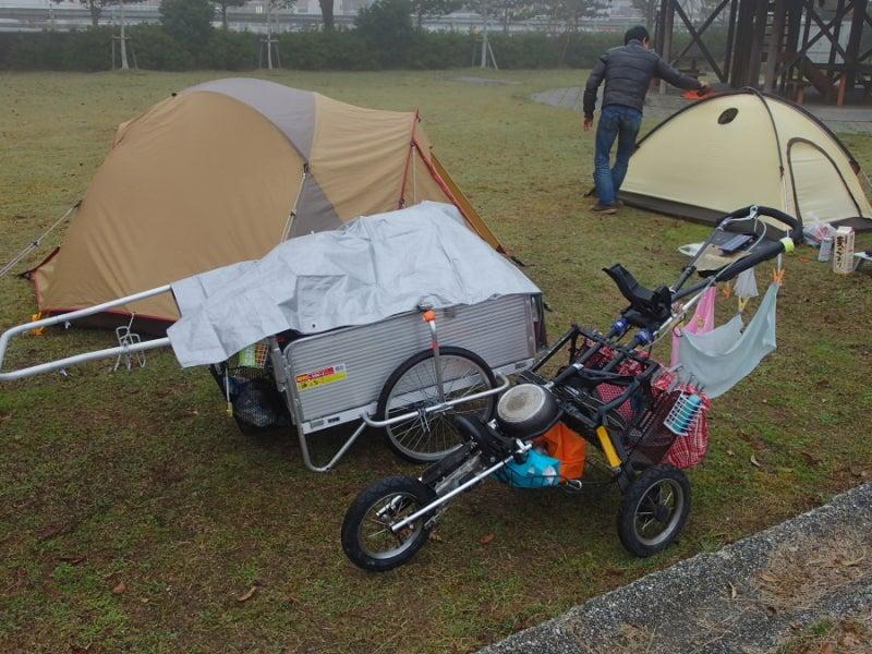 歩き人ふみの徒歩世界旅行 日本・台湾編-テント撤収