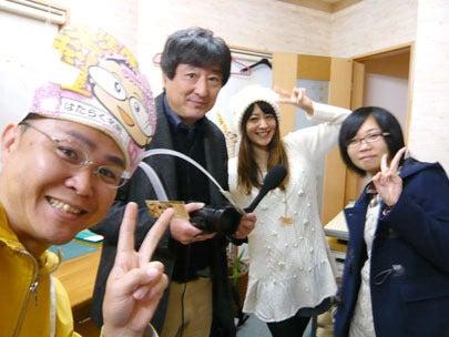 BSNのテレビ番組「ダイバン」取材班さんと新潟の魔法の名刺屋