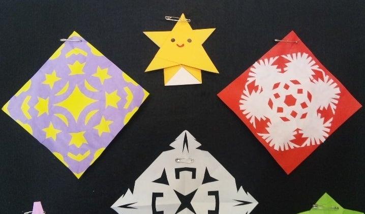 すべての折り紙 雪の結晶 作り方 折り紙 : 簡単工作☆折り紙(切り紙)と ...