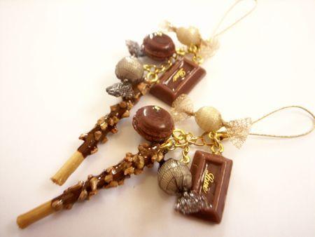 チョコレートとキャンディーのチャーム