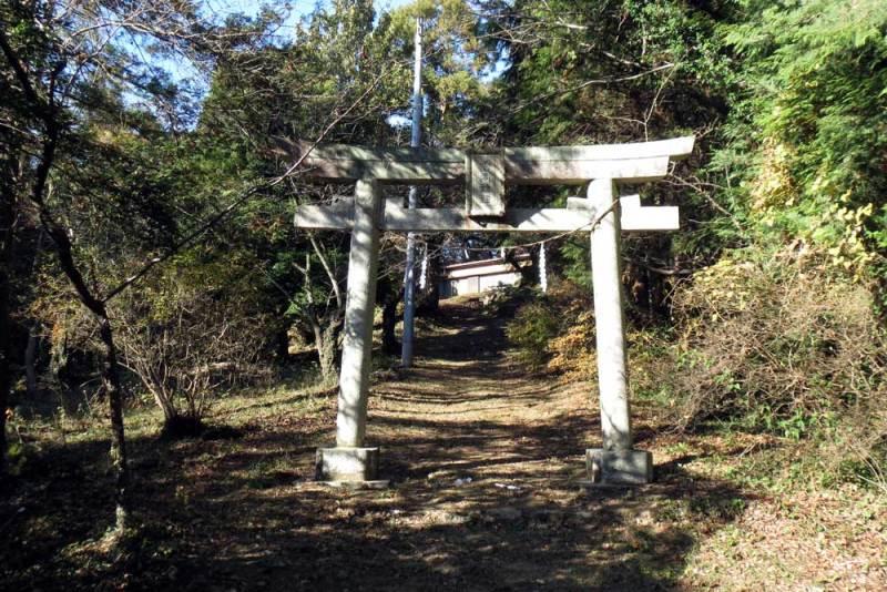 竜ヶ谷城(毛呂山)/雷電神社鳥居
