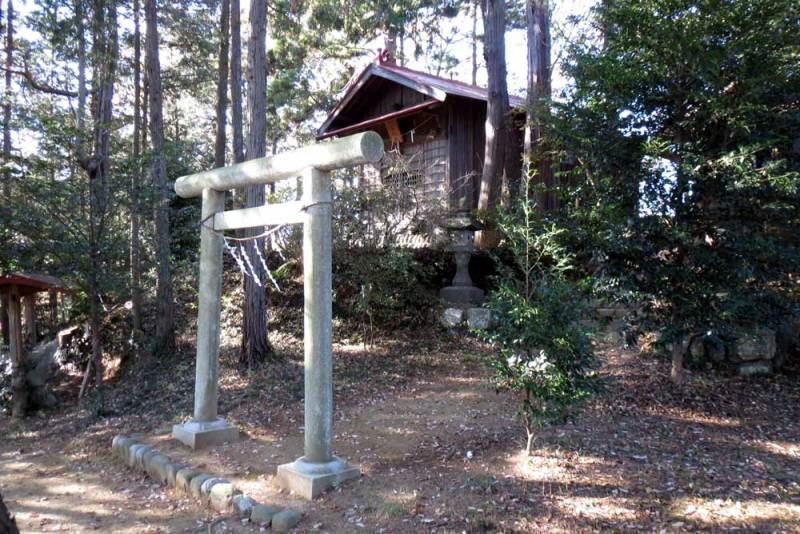 竜ヶ谷城(毛呂山)/雷電神社社殿