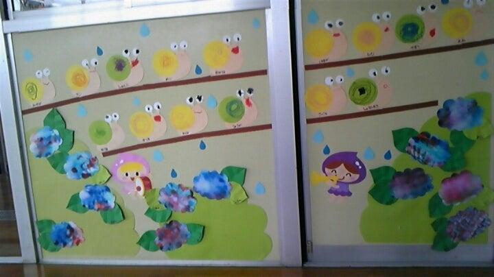 すべての講義 2歳児 ぬりえ : 年少 6月の壁面/かたつむり ...