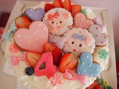 ぼんぼんりぼんちゃんとるんるんるるの大きなチーズケーキ☆|南町田のお菓子教室~Sakura bloom~