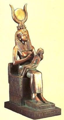 御子ホルス王を抱くイシス女神
