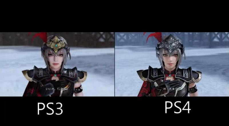 PS4:真・三國無双7with猛将伝の PS3版との比較動画