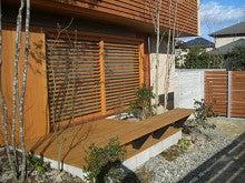 ウッドデッキと木製フェンス-2