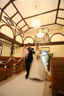 軽井沢ウェディングのノエル家族婚