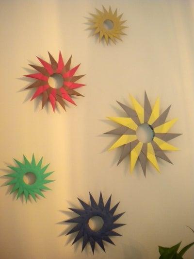折り紙の 折り紙の織り方 : 折り紙の壁飾り 箱型|Sabotenの ...