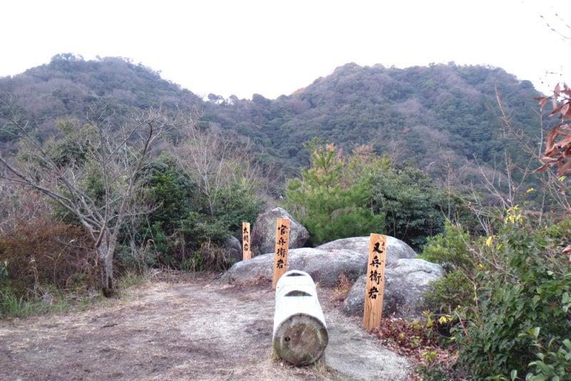馬ヶ岳城/⑦展望台から見た馬ヶ岳の東西の峰