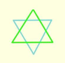 六芒星(青緑黄)