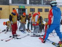 20131227ふくスマスキー教室スキー装着