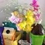冷蔵庫と花