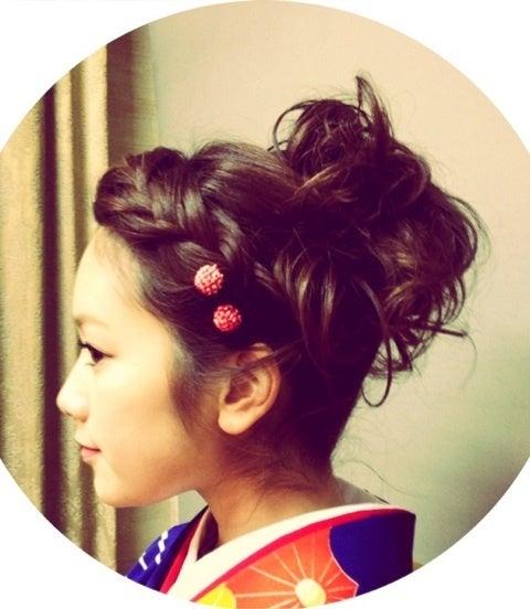 成人式 髪型 成人式 髪型 芸能人 : 成人式 髪型♡着物♡|筧 ...