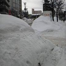 札幌(近所)の雪もよ…