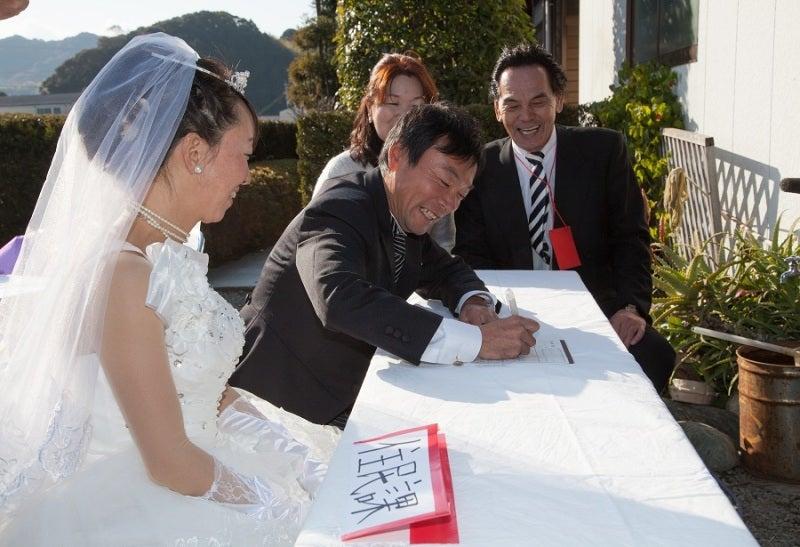 婚姻届記入