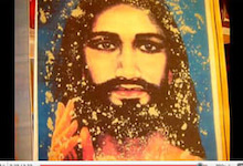 プレマ・サイババの肖像からビブーティ