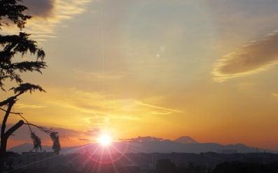 富士山の夕日