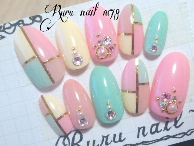 パステルパレットがかわいすぎ~ヽ(´∀`。)ノ|大人かわいいネイルチップ通販♡Ruru nail