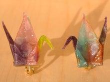 折りヅルのイヤリング