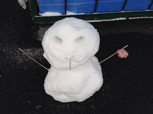 ライコランド雪だるま