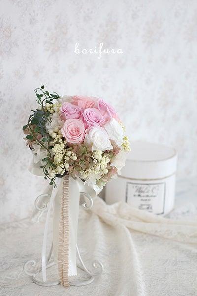 ブーケ ブートニア ピンク 結婚式