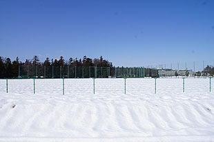 スキー場のような園内の野球場