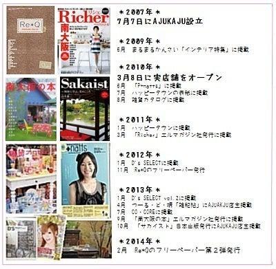雑貨屋AJUKAJU(アジュカジュ)メディア掲載