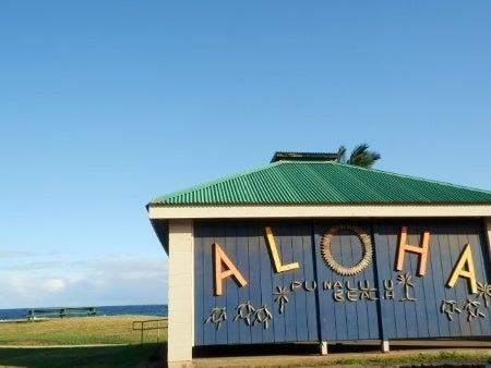 ハワイ島ブラック ビーチで