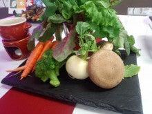椎茸と野菜盛り