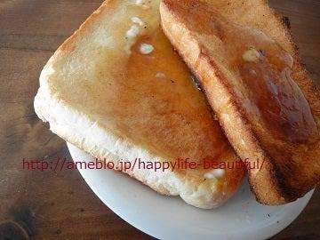 トーストにメープルシロップ
