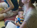 和室で授乳しつつ受講