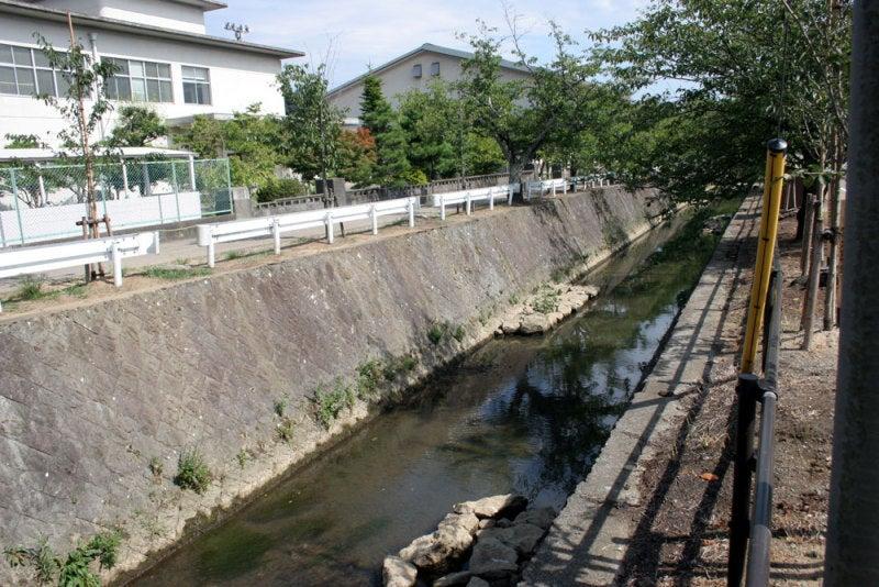 大聖寺城/01城の前を流れる川