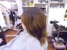 電子トリートメント施術前のヘアー
