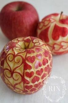 ハートづくりのりんご