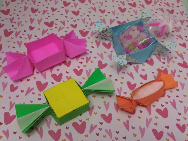 すべての折り紙 折り紙 キャンディボックス : ボックス キャンディ ...