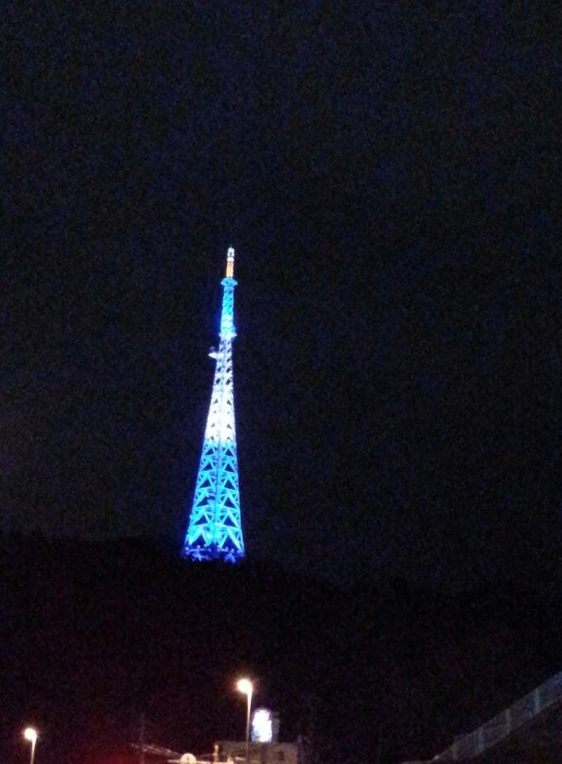 仙台の放送塔もカラフルです!