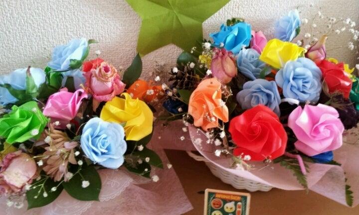 クリスマス 折り紙 折り紙 お花 : ameblo.jp