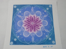 藍色の曼荼羅アート