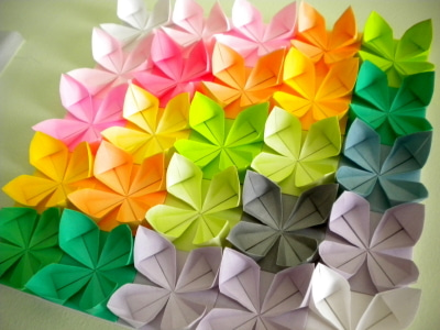 ハート 折り紙 壁飾り 折り紙 : ameblo.jp