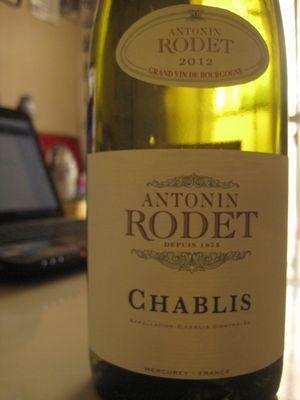 ANTONIN RODET CHABLIS 2012