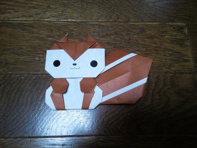 簡単 折り紙 りす 折り紙 : ameblo.jp