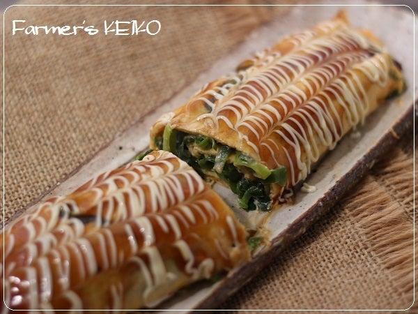 青ねぎ大量消費♪『ねぎチーズの卵巻き』と花見。|Farmers KEIKO オフィシャルブログ「Farmers KEIKO 農家の台所」Powered by Ameba