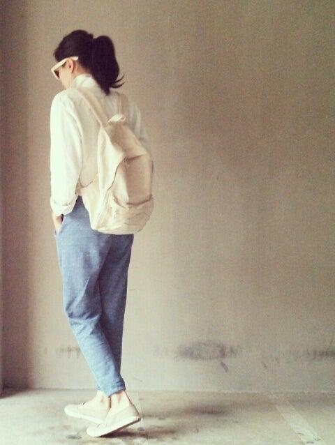 【無印】サイドファスナーポケット付ポリエステルリュックサックの着こなし - NAVER まとめ