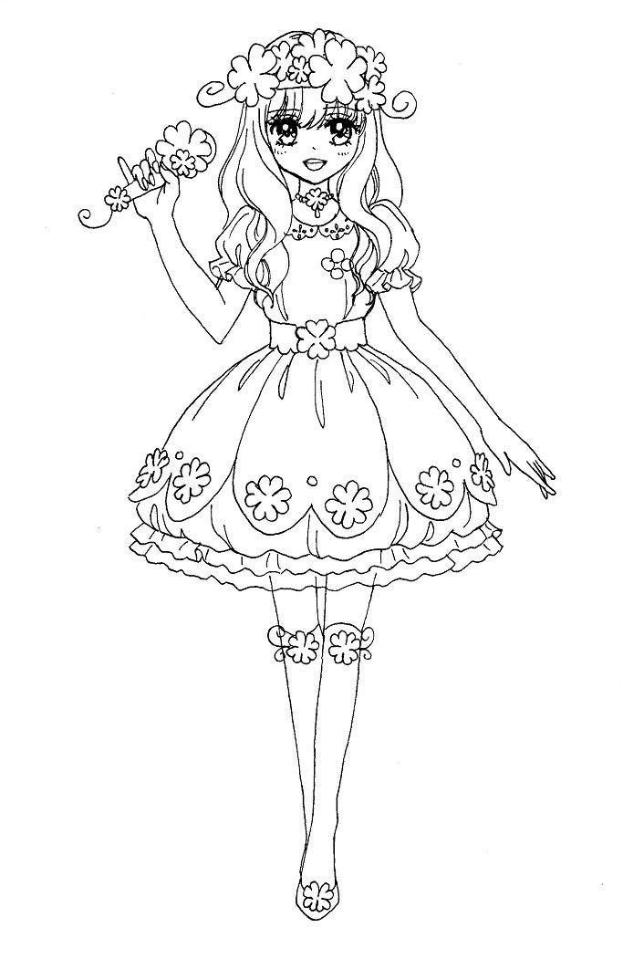 【女の子向け】お姫様 プリンセスの塗り絵(ぬりえ) 無料画像テンプレート素材【ドレ\u2026