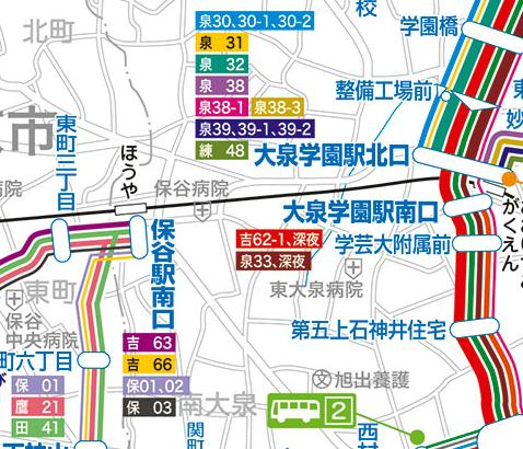 大泉学園駅北口のバス時刻表とバス停地図|西武バ …