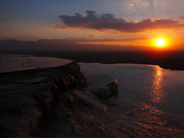 パムッカレの夕陽