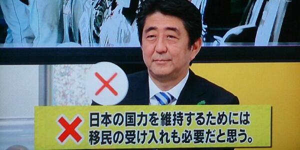 安倍首相移民×