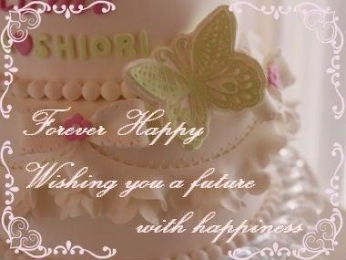 蝶付き、イミテーションケーキ